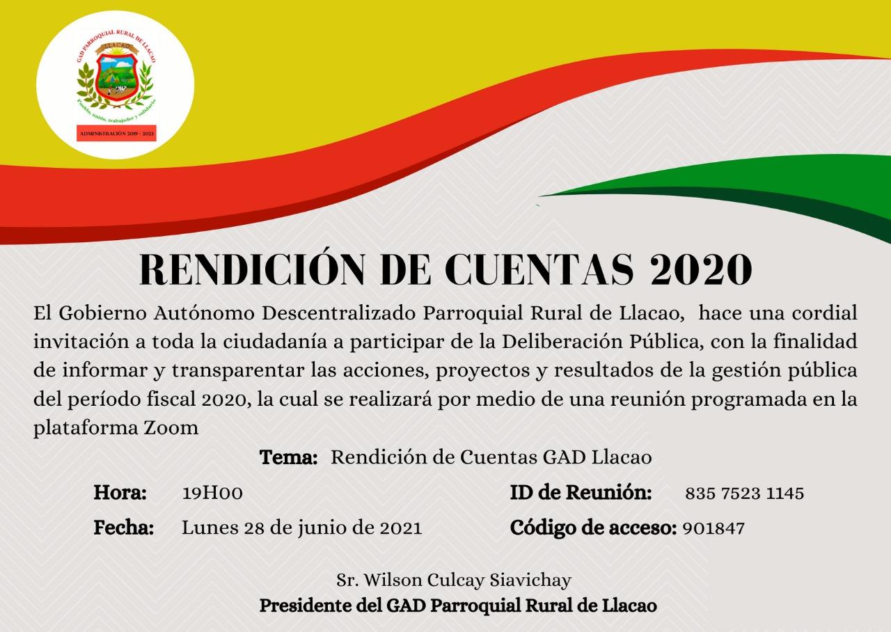 INVITACION RENDICION DE CUENTAS
